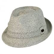 Billy Toyo Straw Braid Fedora Hat