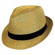 Metallic Polybraid Straw Fedora Hat