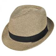 Metallic Straw Trilby Fedora Hat