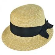 Darby Milan Straw Cloche Hat
