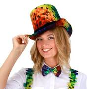 Rainbow Pixel Coachman Top Hat