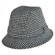 Houndstooth British Wool Trilby Fedora Hat
