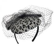 Leopard Wool Felt Fascinator Headband