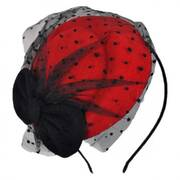 Bow and Dot Pillbox Headband