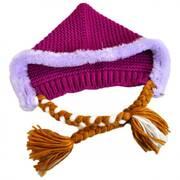 Frozen Anna Knit Acrylic Peruvian Beanie Hat