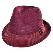 Knit Crown Fabric Fedora Hat