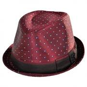Ascot Print Satin Trilby Fedora Hat