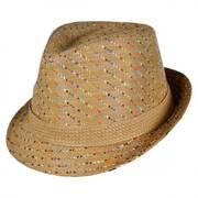 Pixels Toyo Straw Fedora Hat