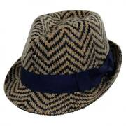 Chevron Angora Felt Fedora Hat