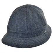 Banks Reversible Cotton Bucket Hat - Navy/Grey