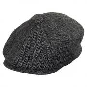 Kids' Herringbone Wool Blend Newsboy Cap