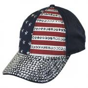 Stars and Stripes Stud Adjustable Baseball Cap