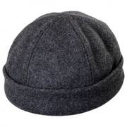 Six Panel Wool Skull Cap Beanie