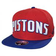 Detroit Pistons NBA adidas On-Court Snapback Baseball Cap