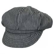 Engineer Striped Cotton Newsboy Cap