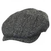 Herringbone Harris Tweed Wool Ivy Cap
