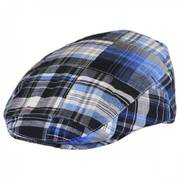 Madras Plaid Patchwork Cotton Ivy Cap
