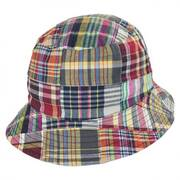 Reversible Madras Plaid Bucket Hat