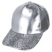 Metallic Stud Adjustable Baseball Cap