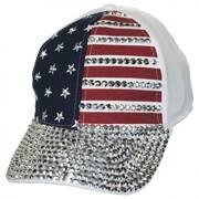 Stars and Stripes Stud Adjustable Baseball Cap