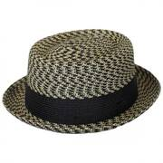 Telemannes Braid Straw Pork Pie Hat