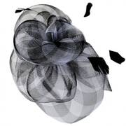 Gingham Mesh Fascinator Headband
