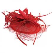 Veil and Feather Fascinator Headband