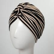Striped Soft Poly Turban