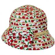 Kids' Cerise Cloche Hat