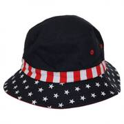 Kids' Stars and Stripes Cotton Bucket Hat