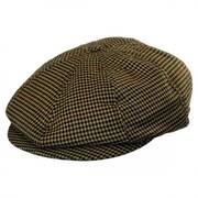 Brood Houndstooth Plaid Poly Newsboy Cap