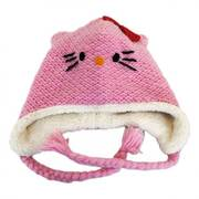 Hello Kitty Wool Peruvian Beanie Hat