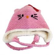 Hello Kitty Wool Peruvian Beanie Hat