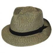 Slouch Braided Fabric Fedora Hat