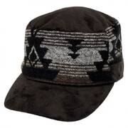 Blanket Band Faux Suede Cadet Cap
