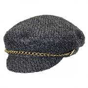 Boucle and Chain Faux Wool Fisherman Cap