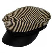 Striped Cotton Sailor's Cap