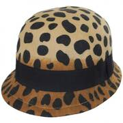 Cheetah Wool Felt Cloche Hat