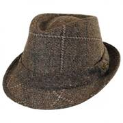 Italian Plaid Wool Felt Fedora Hat