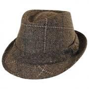 Italian Plaid Wool Felt Fedora Hat