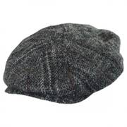 Plaid Harris Tweed Wool Newsboy Cap