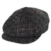 Italian Herringbone Plaid Wool Newsboy Cap