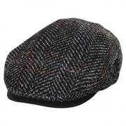 Italian Herringbone Plaid Wool Ivy Cap