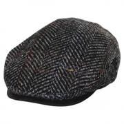 Italian Herringbone Plaid Wool Ivy Cap