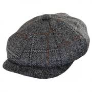 Italian Plaid Wool Newsboy Cap
