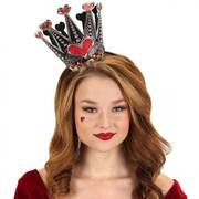 Queen of Hearts Sparkle Fascinator Headband