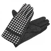 Houndstooth Jersey Knit Texting Gloves