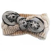 Floral Tie Knit Headband