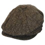 Heathclif Herringbone Wool Newsboy Cap