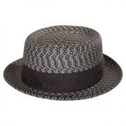 Telemannes Braid Straw Pork Pie Hat